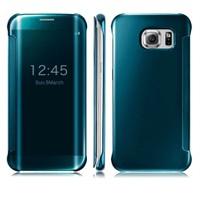 Kılıfshop Samsung Galaxy S6 Edge Plus Clear View Cover Mavi