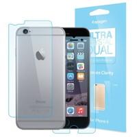Spigen Apple iPhone 6S/6 Ultra Crystal Dual 2 Adet Ön + 1 Adet Mat Arka Ekran Koruyucu