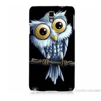 Teknomeg Samsung Galaxy Note 3 Neo Kapak Kılıf Beyaz Baykuş Baskılı Silikon