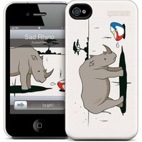 Gelaskins Apple iPhone 4 Hardcase Kılıf Sad Rhino