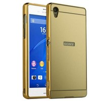 Microsonic Sony Xperia M4 Aqua Kılıf Luxury Mirror Gold