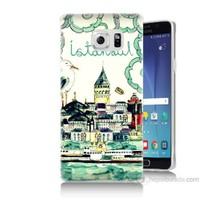 Teknomeg Samsung Galaxy Note 5 Kapak Kılıf Galata Manzarası Baskılı Silikon