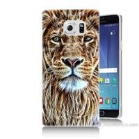 Teknomeg Samsung Galaxy Note 5 Kapak Kılıf Aslan Yüzü Baskılı Silikon
