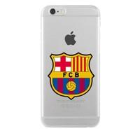 Remeto Samsung Galaxy Note 4 Transparan Silikon Resimli Barcelona Logo