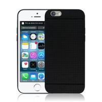 Microsonic iPhone 6 Plus (5.5) Dot Style Silikon Kılıf Siyah - CS120-DOT-IP6P-SYH
