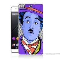Teknomeg Sony Xperia C5 Kapak Kılıf Charlie Chaplin Baskılı Silikon