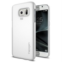 Spigen Samsung Galaxy S7 Kılıf Thin Fit Ultra İnce Shimmery White - 555CS20004