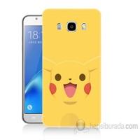 Teknomeg Samsung Galaxy J5 2016 Kapak Kılıf Pokemon Pikachu Baskılı Silikon