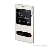 Inovaxis General Mobile Discovery 2 Flip Cover İnce Ve Koruyucu Kılıf Kapak Beyaz