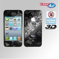 Case 4U iPhone 4/4S Ekran Koruyucu 3d ( çift taraflı parmak izi bırakmaz)