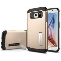 Spigen Samsung Galaxy S6 Kılıf Slim Armor - Champagne Gold - SGP11329