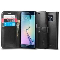 Spigen Samsung Galaxy S6 Edge Kılıf Wallet S (Cüzdan) - Siyah - 11433