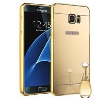 Teleplus Samsung Galaxy S7 Aynalı Metal Kapak Gold + Cam Ekran Koruyucu