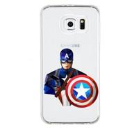 Remeto Samsung Galaxy Note 4 Transparan Silikon Resimli Captain America
