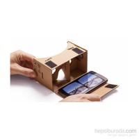 Melefoni Google Cardboard Vr 3D Sanal Gerçeklik Gözlüğü 3.5 - 5.2İnc Uyumlu + Nfc