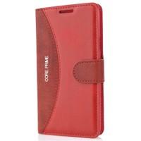 CoverZone Samsung Galaxy Core Prime Kılıf Standlı Deri Yan Kapaklı Kırmızı