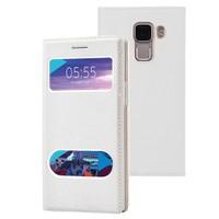 Microsonic Türk Telekom Honor 7 Kılıf Dual View Gizli Mıknatıslı Beyaz