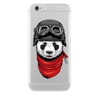 Remeto Samsung Galaxy S3 Mini Transparan Silikon Resimli Motorcu Panda