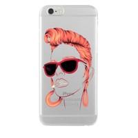 Remeto Samsung Galaxy Note 3 Neo Kızıl Rock'n Roll Kızı Transparan Silikon Resimli Kılıf