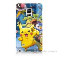 Teknomeg Samsung Galaxy Note Edge Kapak Kılıf Pokemon Pikachu Baskılı Silikon