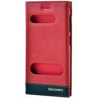 Discovery Çift Pencereli Lüx Kılıf Kırmızı
