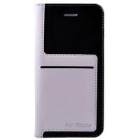 Teleplus İphone 6 Flip Cover Tarz Kılıf Beyaz