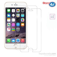 Case 4U Apple iPhone 6 Ultra Şeffaf Ekran Koruyucu (2 Adet)