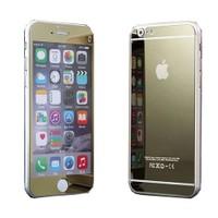 Teleplus İphone 6S Plus Renkli Cam Ekran Koruyucu Ön + Arka Cam Ekran Koruyucu Gold