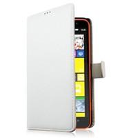 Microsonic Nokia Lumia 1320 Cüzdanlı Deri Kılıf Beyaz -CS150-WLT-LUMIA-1320-BYZ