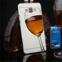 Teleplus Galaxy A3 2016 Kapak Aynalı Gümüş + Cam Ekran Koruyucu