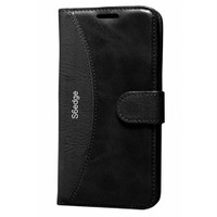 Cep Market Samsung Galaxy S6 Edge Kılıf Standlı Cüzdan (Siyah)