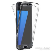 Microsonic Samsung Galaxy S7 Edge Kılıf 6 Tarafı Tam Full Koruma 360 Clear Soft Şeffaf
