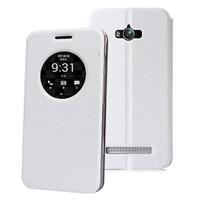 Microsonic Asus Zenfone Max 5.5 Kılıf Circle View Delux Kapaklı Akıllı Beyaz