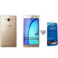 Teleplus Samsung Galaxy On5 Tam Korumalı Silikon Kılıf Şeffaf + Cam Ekran Koruyucu