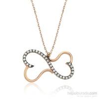 Olivin Accesories Gümüş Sonsuz İki Kalp Kolye 432677