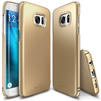 Ringke Slim Galaxy S7 Edge Kılıf Royal Gold - 4 Tarafı Saran İnce Şık Tasarım