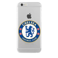 Remeto Samsung Galaxy A7 Transparan Silikon Resimli Chelsea Logo