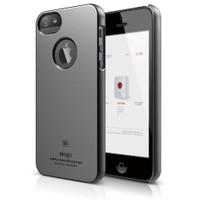 Elago Apple iPhone 5 S5 Slim Fit Series Metalik Koyu Gri (Ekran Koruyucu Hediye)