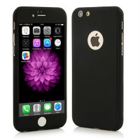 4Rmor İphone 6/6S Plus Kılıf 360 Derece Tam Koruma Siyah
