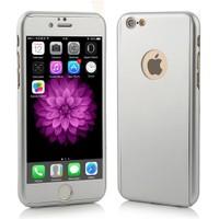 4Rmor İphone 6/6S Plus Kılıf 360 Derece Tam Koruma Gümüş
