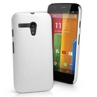 Motorola Moto G Darbe Emicili Silikon Kılıf Beyaz
