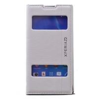 Teleplus Sony Xperia Z2 Çift Pencereli Magnum Seri Kılıf Beyaz