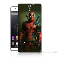 Teknomeg Sony Xperia C5 Kapak Kılıf Deadpool Baskılı Silikon