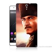 Teknomeg Sony Xperia C5 Kapak Kılıf Mustafa Kemal Baskılı Silikon