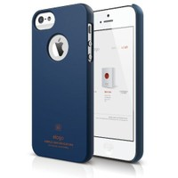 Elago Apple iPhone 5 S5 Slim Fit Series Mat Indigo Mavi (Ekran Koruyucu Hediye)