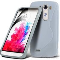 Teleplus Lg G3 Stylus Tam Korumalı Silikon Kılıf Beyaz