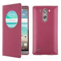 Teleplus Lg G3 Beat Lux Pencereli Uyku Modlu Kılıf Kırmızı