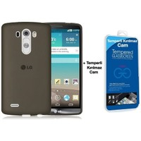 Teleplus Lg G3 Mini & Beat Silikon Kılıf Siyah + Cam Ekran Koruyucu