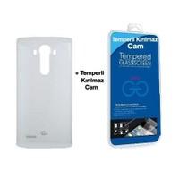 Teleplus Lg G4 Arka Kapak Beyaz Nfc Dahil + Cam Ekran Koruyucu