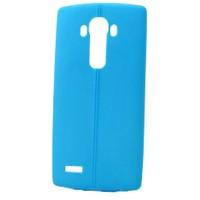 Teleplus Lg G4 Deri Görünümlü Silikon Kılıf Mavi